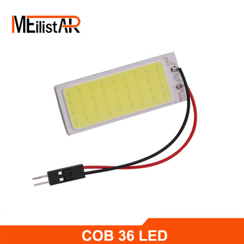 Araba led 1 adet COB Festoon T10 BA9S C5W 36 led dome araba LED panel ışık çip/smd araba okuma kapalı ampul 12 V beyaz 62491