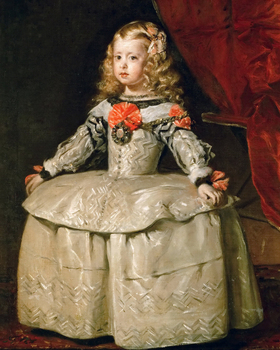 Classical figurative painting vintage portrait poster picture painting Diego Velazquez Infanta Margaraita Teresa in White Garb