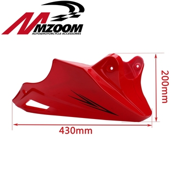 For Honda MSX 125 2013 Black Red Engine Protector Guard Cover Under Cowl Lowered Low Shrouds Fairing Belly Pan 923