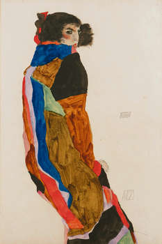 Nude canvas paintings portrait picture modern art home decor giant poster female nude Moa 1911 By Egon Schiele masterpiece 17857