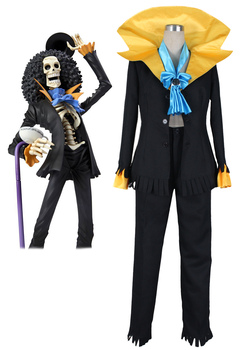 One Piece Ölü Bones Brook Suit Cosplay Kostüm Custom Made 63380