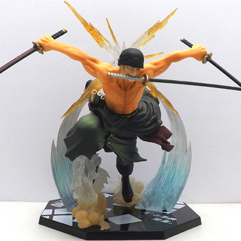 ZXZ Anime One Piece Roronoa Zoro Heykelcik Japon One Piece Zoro PVC 17 CM Action Figure Savaş sürüm Koleksiyon Model Doll 26933